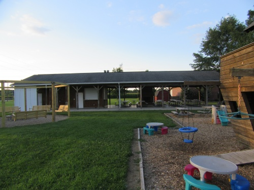 Playground and Picnic areas behind our Church