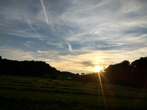 Sunset near the Church on Riggs Rd